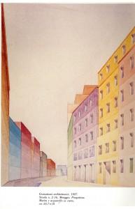 Cromatismi architettonici, Piero Bottoni, II mostra internazionale delle arti decorativa di monza, 1927