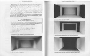 Una combinación adecuada de colores blanco y negro permite alterar las dimensiones espaciales de una habitación.