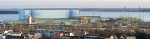 Astilleros Stralsund. Friedrich Ernst von Garnier, Stralsund (Alemania), 1999.  Vista General