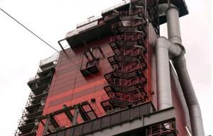 Industria ThyssenKrupp AG Feuerbeshich-tugsanlange Hochofen Duisburg. Friederich Ernst von Garnier, Dortmund (Alemania), 2003. Vista General y detales