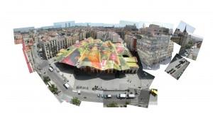 Rehabilitación del mercado de Sta. Caterina, Enric Miralles y Benedetta Tagliabue, Barcelona, 2005. L