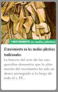 ICONO movimiento medios plasticos