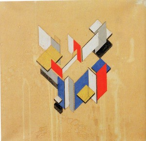 Contre-construction. Theo van Doesburg, 1923
