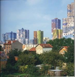 Quartier du Parc. Émile Aillaud y Fabio Rieti (colorista), Nanterre (Francia), 1974-1978.