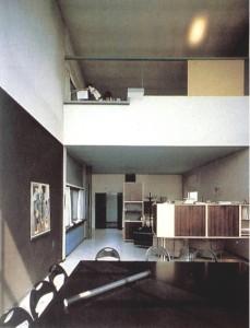 Pabellón de L' Esprit Nouveau. Vista Interior. Le Corbusier, Exposición Internacional de las Artes Decorativas, París,1925