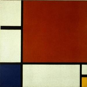 Composición II, Rojo, azul y amarillo. Piet Mondrian, 1930.