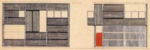 Alzados del Garaje Vries, G. T. Rietveld, Utrech, 1927.