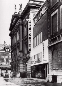 Fotografía del Café de Unie, J.J.P.Oud, Rotterdam, 1925.