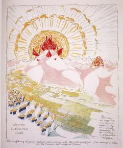 """""""Nieve, Glaciar, Cristal"""" en Arquitectura Alpina. Bruno Taut, Hagen (Alemania), 1919"""
