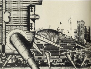 Walking City. Archigram (Ron Herron), 1964