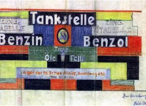 Proyecto de publicidad para la ciudadela, B. Taut, Magdeburgo (Alemania), 1922