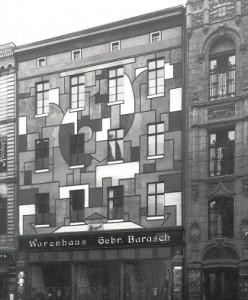 Casa coloreada en Peter Strasse 22, Oskar Fischer, Magdeburgo, 1919-1921.