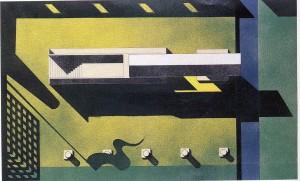 Diseño de una plaza con monumento. Aldo Rossi, Segrate (Italia), 1965.