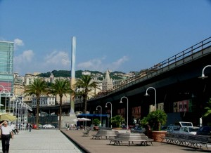 Chimenea en el puerto de Génova. Giulio Bertagna e Aldo Bottoli (B&B Colour design), Osservatorio Colore, Liguria (Italia).