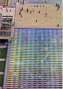 Fuente musical monumental. Yaccob Agam, Explanada de la Défense, París, 1976.