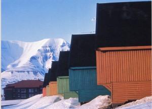 Paisajes de Longyearbyen y propuesta cromática. Grete Smedal, Océano Glacial Ártico, Noruega, 1981.