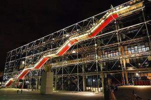 Fachada exterior del Centro Nacional de Arte y Cultura Georges Pompidou.