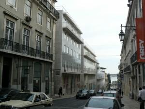 Fachadas de un conjunto de viviendas en Lisboa, Alvaro Siza Vieira.