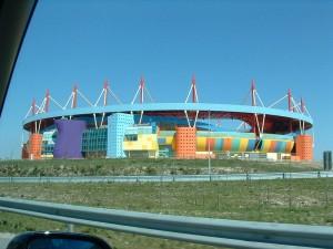 Estadio de fútbol de Aveiro, Tomás Taveira, Aveiro (Portugal), 1980-1986
