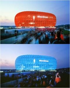 Estadio Alianz Arena, Herzog y de Meuron, Munich (Alemania), 2005.