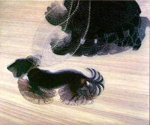 Dinamismo de un perro con cadena, Giacomo Balla, óleo sobre lienzo (89,85 x 109,85 cm), 1912.