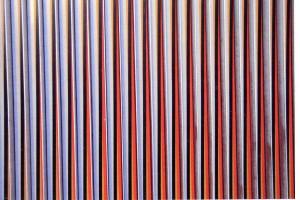 Physichromie, obra instalada en la plaza de Venezuela. Carlos Cruz-Diez, Paris,1976-1978