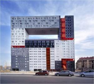 Edificio Residencial Mirador. MVRDV, Madrid, 2004. Aspecto exterior.